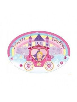 Placa Grande Princess Birthday Carroza