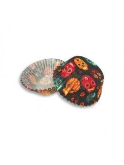 Capacillo Standard Calaveritas Colores 100 Pz