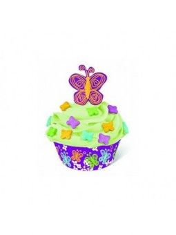 Kit Decoracion Mariposas 24 Picks+24Cups+Sprinkles