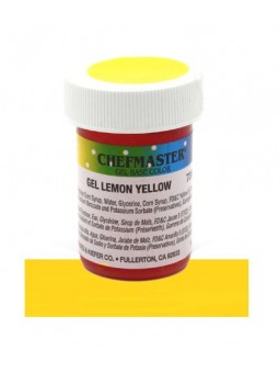 Gel Chefmaster 1 Oz. (28.35G) Amarillo Limon